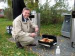 Henrik loves his BBQ.