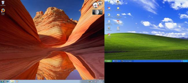Windows 7 and XP side by side on an Ubuntu host